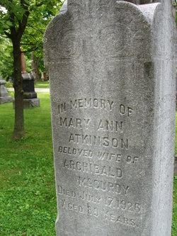 Mary Ann <i>Atkinson</i> McCurdy
