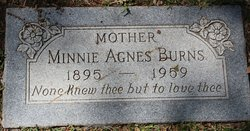 Minnie Agnes <i>Davis</i> Burns