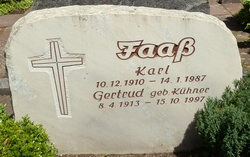 Gertrud <i>Kuehner</i> Faass
