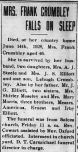 Lillie Pearl <i>Elliott</i> Crumbley