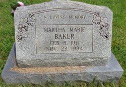 Martha Marie <i>Staggs</i> Baker