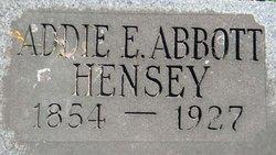 Addie E. <i>Coon</i> Abbott Hensey
