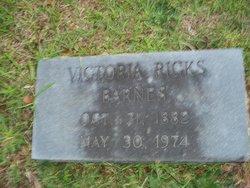 Victoria <i>Ricks</i> Barnes