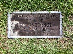 Margaret Ardella <i>Haddox</i> Anderson