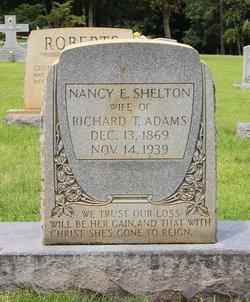 Nancy Elizabeth Nannie <i>Shelton</i> Adams