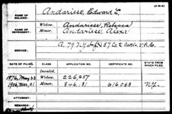 Pvt Edward L Andariese