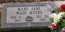 Mary Jane <i>Wade</i> Myers