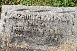 Elizabeth Ann <i>Hann</i> Cox