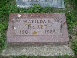 Matilda E <i>Miller</i> Derby