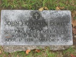 Sgt John Franklin DeWitt