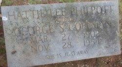 Hattie Lee <i>Philpott</i> Coleman