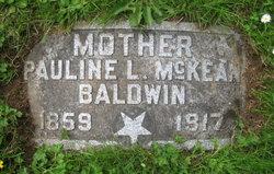 Pauline L <i>McKean</i> Baldwin