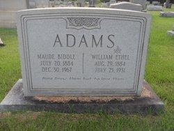 Maude <i>Biddle</i> Adams