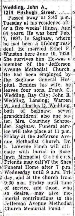 John Augustus Wedding