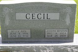 Betty Ann <i>Mynatt</i> Cecil