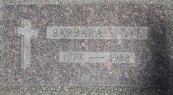Mrs Barbara <i>Stevenson</i> Dye