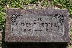 Mrs Esther T <i>Gustafson</i> Hemphill