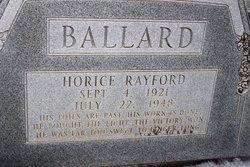 Horice Rayford Ballard