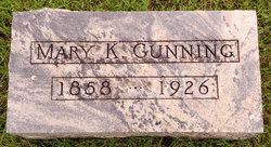 Mary K <i>Patterson</i> Gunning