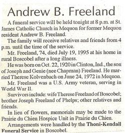 Andrew B Freeland