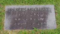 Frances Melissa <i>McCleskey</i> Barron