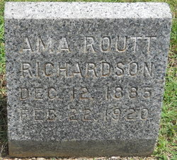 Ama/Anna <i>Routt</i> Richardson