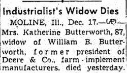 Katherine <i>Deere</i> Butterworth