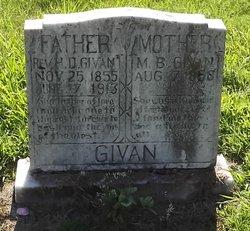 Rev Hiram D Givan
