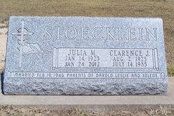 Julia M. <i>Rupp</i> Stoecklein