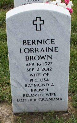 Bernice Lorraine <i>Benedict</i> Brown