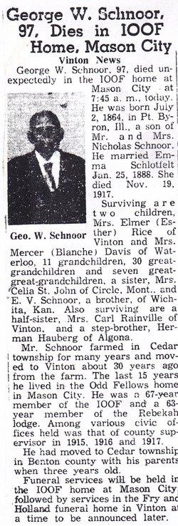 George W Schnoor