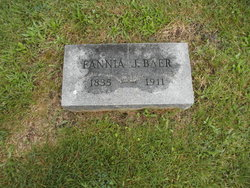 Fannia (Fanny) J. <i>Waidley</i> Baer