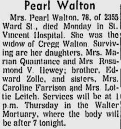 Pearl <i>Zolle</i> Walton
