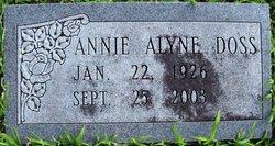Annie Alyne <i>Williams</i> Doss