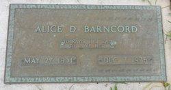 Alice D. Barncord