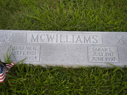 Sarah Louise <i>Poore</i> McWilliams