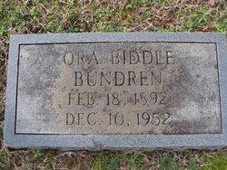 Ora <i>Biddle</i> Bundren