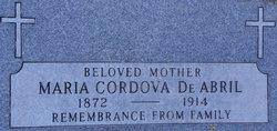Maria <i>Cordova</i> Abril