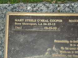 Mary Steele <i>O'Neal</i> Cooper