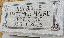 Ira Belle <i>Hatcher</i> Haire