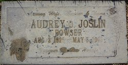 Audrey Olivia <i>Brown</i> Joslin