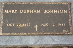 Mary <i>Durham</i> Johnson