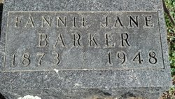 Fannie Jane <i>Derossett</i> Barker