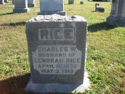 Charles W Rice
