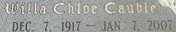 Willa Chloe <i>Cauble</i> Cooke