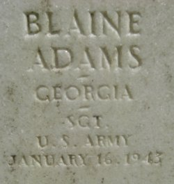 Sgt Blaine Adams
