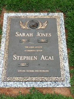 Sarah <i>Jones</i> Acai