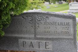 Jennie Lillie <i>Hanelton</i> Pate