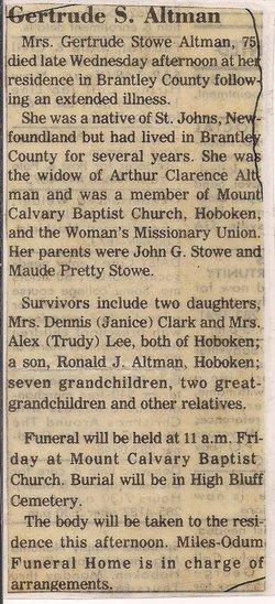 Gertrude <i>Stowe</i> Altman