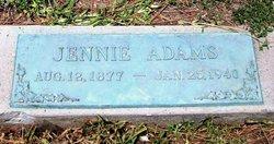 Mary Jane Jennie <i>Apgar</i> Adams